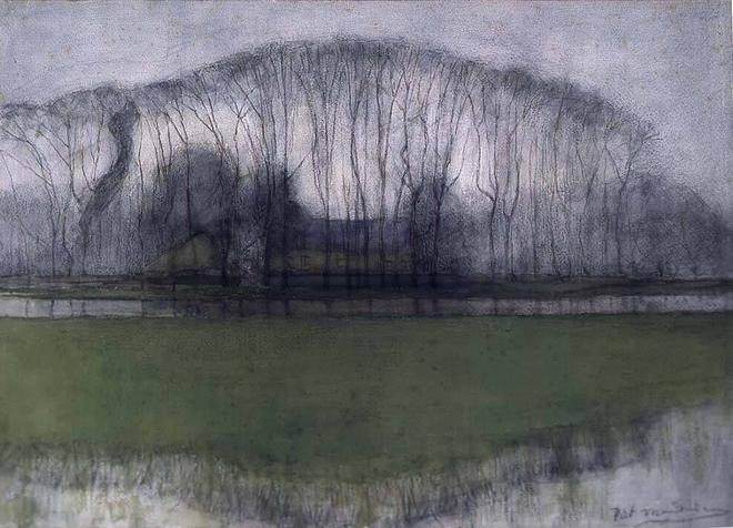 1905-1906-line-of-trees-in-marshy-landscape-near-duivendrecht-mondriaan_-_bomenrij_in_drassig_landschap_bij_duivendrecht