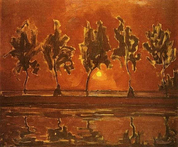 1907-trees-by-the-gein-moonrise-579px-piet_mondriaan_-_paysage_1